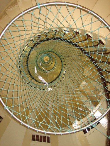 Phare Amadee: spiral staircase to light