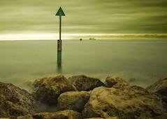 Ship Ahoy!! (jcharl) Tags: rocks exposure ship dorset marker sandbanks buoy starboard