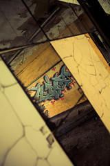 symmetry (TerryJohnston) Tags: city urban reflection abandoned graffiti mirror paint downtown tag indiana gritty abandon trespass gary trespassing urbex in garyin beyondrepair canoneos5dmarkii 5dmarkii urbexftw
