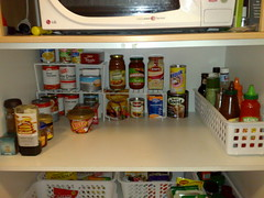This Is The Only One At Eye Level. Bought The Wire Stands For Under $4 Each  And The Long Plastic Tub To The Side Cost About $13.50. It Holds All The  Sauces.