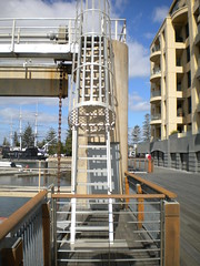 Ladder Access to Barrage (mikecogh) Tags: glenelg ladder cover patawalonga barrage