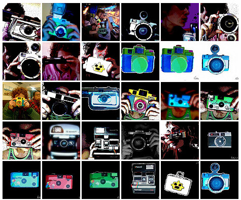 mosaico cámaras.