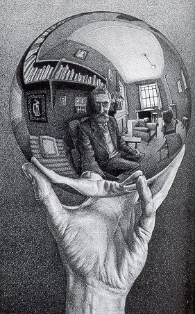 escher self-portrait