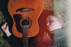 On the Floor (Ludovic Macioszczyk Photography) Tags: world life camera trees light summer portrait people music sun france art love film nature girl analog 35mm canon vintage hair photography 50mm vacances countryside photo spring holidays exposure shoot fuji photographie dof shine floor natural sweet ae1 guitar folk no flash tamara picture sunny scan iso photographs 400 sound acoustic keep alive 135 sweetheart 18 leak fille 2009 tam 87 musique argentique leaks limousin fd on ludovic négatif pellicule acoustique crozant ludos développement macioszczyk