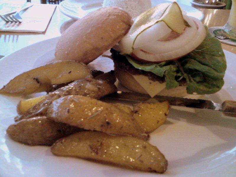 Cristang pork burger