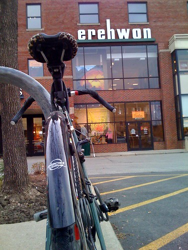 One of many Chicago shops within biking distance for Pete.