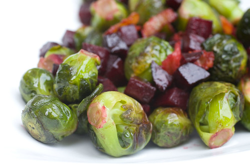 Bacon, Beets, and Brussles Sprouts 6