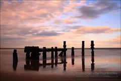Dusk Piles (ScudMonkey) Tags: old longexposure beach canon evening pier dusk slowshutter derelict piles hartlepool nd1000 40d nd110 paulbradley