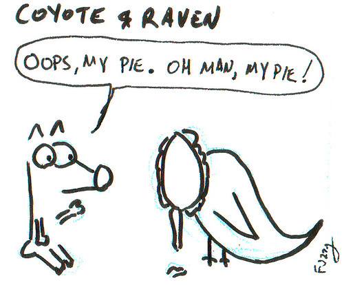 366 Cartoons - 285 - Coyote and Raven