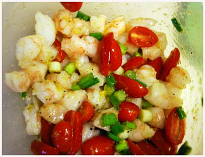 Shrimp-Tomato-Scallions