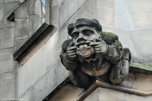 A Guild Chapel Gargoyle at Stratford upon Avon