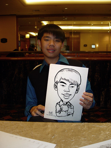 Caricature live sketching for wedding dinner 221109 - 1