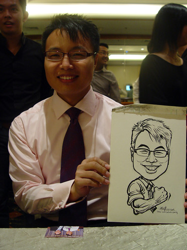 Caricature live sketching for wedding dinner 221109 - 10
