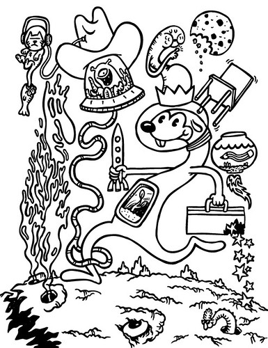 Page for Threadless community colouring book