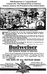 1908 Anheuser-Busch Budweiser Liquid Bread and Andrew Jackson President (carlylehold) Tags: street david robert ice beer barley saint st bread louis ginger inn bravo child diesel near mother cream ale ab mo missouri syrup bier bouquet nicholson yeast root motherhood budweiser liquid grape act stork medicinal busch prohibition 1908 hops malt draught bevo keeper sulzer anheuser zythum haefner volstead maltnutrine nutrine carlylehold maltnutrene zythepsary robertchaefner