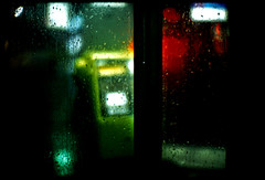 tears in rain (TommyOshima) Tags: glass rain night lights bladerunner quote phonebooth f10 noctilux raindrop roybatty