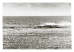. (Rebecca...) Tags: ocean uk winter sea bw 120 film darkroom print blackwhite 645 cornwall surf surfer wave crop ilford fp4 200mm pentax645 125asa porthleven ilfordmultigrade