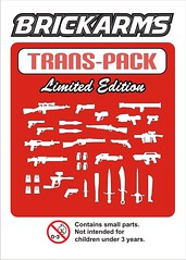 BrickArms Trans-Red Pack (enigmabadger) Tags: new colors lego trans custom 2010 brickarms