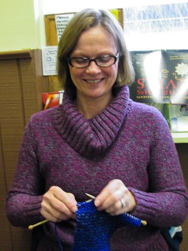 Knitting at Mark's