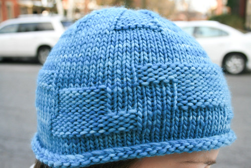 Dulles hat in Malabrigo 'Bobby Blue'