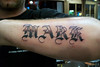 Lettering tattoo Craigy Lee Tattoo