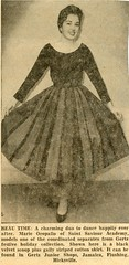 Mom modeling a dress (epicharmus) Tags: nyc newyorkcity family ny newyork newspaper model dress modeling mother skirt queens jamaica teenager 1958 relatives scoop curtsy teenage newspaperclipping italianamerican gertz daddino seperates oropallo marieoropallo mariedaddino mariadaddino mariaoropallo gertzdepartmentstore