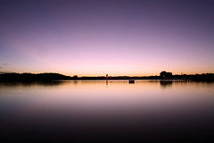 Lake Burley Griffin (: : G U M : :) Tags: longexposure light sky lake color colour nature water sunrise canon landscape australia canberra carillion lakeburleygriffin 1000d