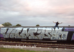 Vamp wholecar!! (London Art) Tags: london train graffiti vamp wholecar