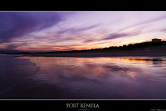 Sunset at Port Kembla Beach (Taha Elraaid) Tags: camera sunset lake beach port canon australia 7d taha wollongong illawarra kembla lakeheights photography2011 elraaid