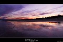 Sunset at Port Kembla Beach (Taha Elraaid) Tags: camera sunset lake beach port canon australia 7d taha wollongong illawarra kembla lakeheights photography2011 elraaid