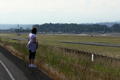The Field Lines Up (planephotoman) Tags: training acc fighter eagle pdx portlandor usaf ore orang acm omd mcdonnelldouglas redhawk fighterjet redhawks f15c portlandinternationalairport pdxaircraft 142fw 123fs 85100 oregonairnationalguard pdxmilitary 80024 84003 84020 trainingflights 78479 78492 oregonairguard 840003 portlandairnationalguardbase pangbase 780479 780492 800024 pangb 840020 850100