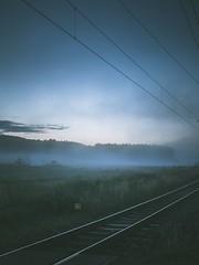 """Missing"" (Magnus Eriksson75) Tags: sweden sverige nordic scandinavia lx100 lumix nature natur mist misty fog train"