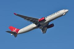 'VS28N' (VS0029) LGW-BGI (A380spotter) Tags: takeoff departure climb climbout gearinmotion gim retraction belly airbus a330 300x gvluv ladylove virginatlanticairways vir vs vs28n vs0029 lgwbgi runway08r 08r london gatwick egkk lgw
