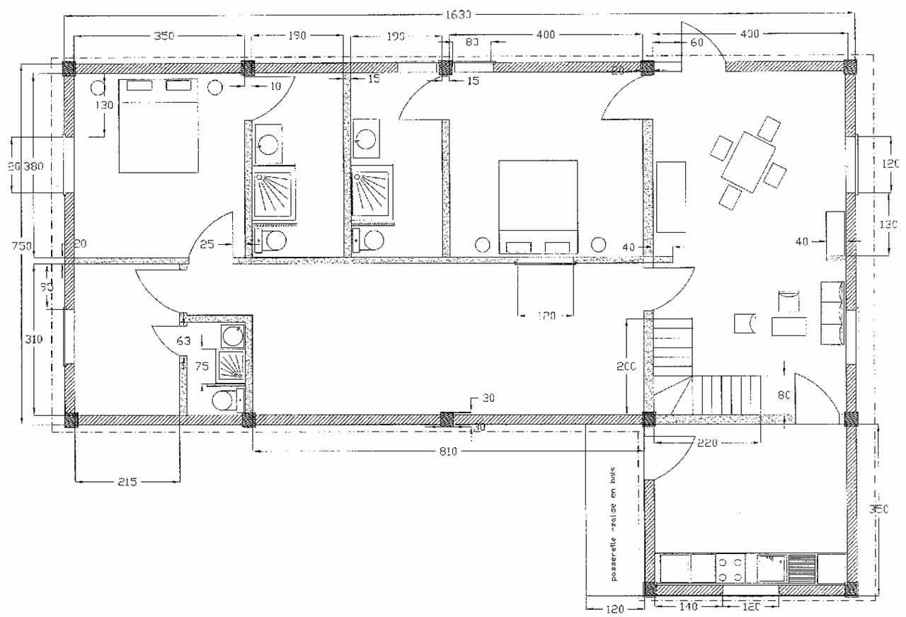 Plan dune maison au senegal for Plan maison 150m2 senegal