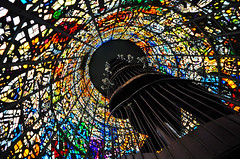 Inside Kaleidoscope (Ame Otoko) Tags: color tower art glass japan museum architecture modern stairs spiral nikon angle image artistic sale unique interior stock kaleidoscope stained odd commercial cylinder  inside unusual hakone openair d90