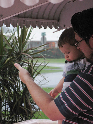 Z & Daddy look at the rain