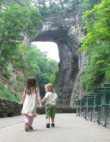 Kids at Natural Bridge