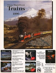 "SP 4449 in ""Those Magnificent Trains 1990"" (mod as hell) Tags: 1989 1980sads sp4449 trainsmagazine"