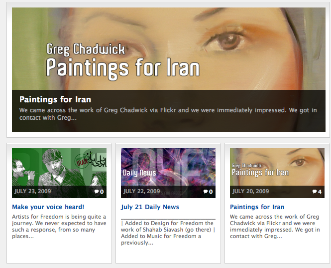 Paintings for Iran