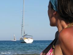 Il mare di Chia (Davide Pili (dapiusc)) Tags: sardegna relax donna barca mare vela spiaggia vacanza orizzonte canonpowershots5is scattifotografici