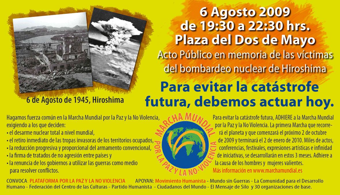 6 de agosto / En memoria víctimas Hiroshima