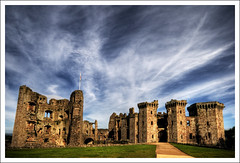 Raglan Castle (-terry-) Tags: sky cloud castle wales flickr explore raglan raglancastle flickrexplore seeninexplore