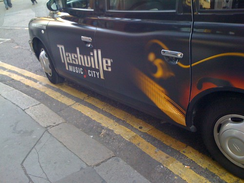 Nashville ad on London taxi