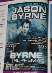 Jason Byrne - The Byrne Supremacy promo, Edinburgh Festival Fringe 2009