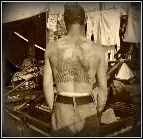 Sailor Tattoo Back ca 1900