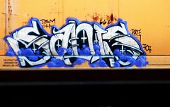 sadis (mightyquinninwky) Tags: railroad white yellow geotagged graffiti rust purple tag tracks 666 railway tags tagged explore railcar rails oh weathered graff 707 graphiti hopper freight dsm 07 trainyard 2007 freightyard cnw explored sadis grainhopper evansvilleindiana chicagonorthwesternrailroad upsidedowncrosses paintedhopper howellarea geo:lon=87616138 taggedhopper paintedrailcar taggedrailcar geo:lat=37955255 exploreformyspacestation