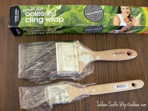 Using Cling Wrap