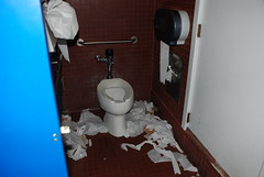 Dirtiest bathroom ever!