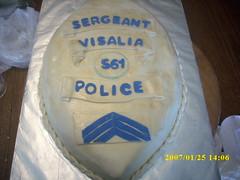 Sergeant Retirement Cake (Lets Bake Some Cake) Tags: cake police braiding marshmallowfondant shimmerdust