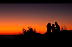 (pacafl) Tags: ocean sunset sea france beach water strand zee bunker frankrijk oceaan euronat2009 grayanlhopital